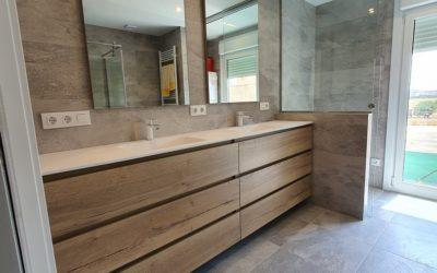 Instalación de mueble de baño a medida